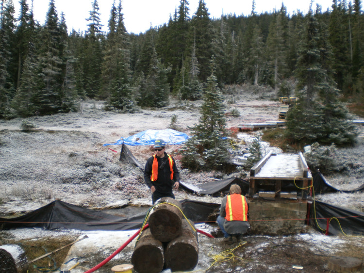 A remote location project in Strathcona Provincial Park
