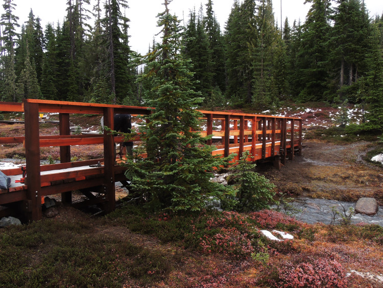 Paradise Meadows bridge fully installed